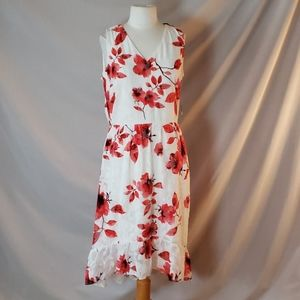 New ECI Floral Sleeveless High-Low Dress